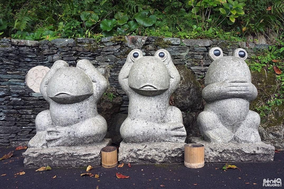 Grenouilles de la sagesse, temple Nanzoin, Fukuoka