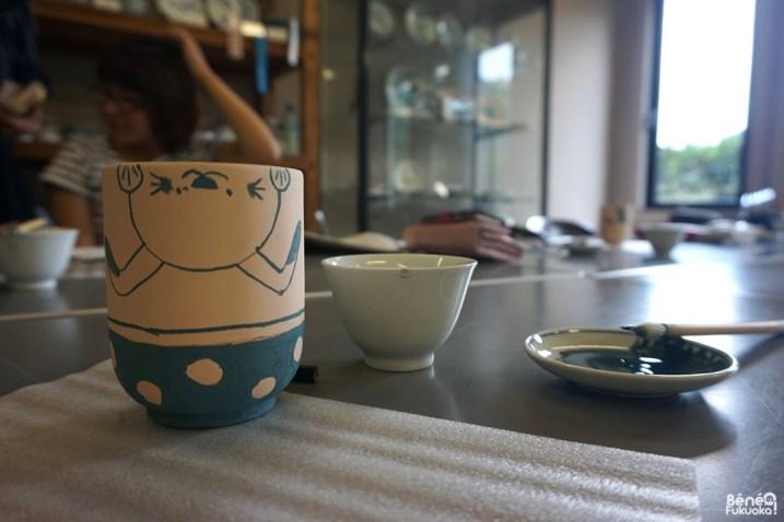 Expérience de peinture sur céramique, Imari and Arita Pottery Traditional Industry Museum, Ôkawachiyama, Saga