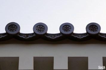 Toiture du château de Karatsu