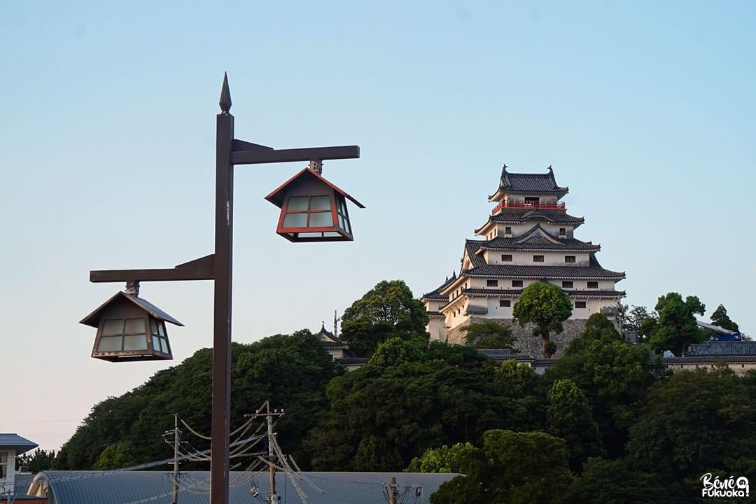 Lanternes devant le château de Karatsu