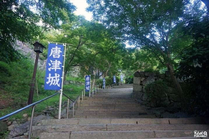 Marches menant au château de Karatsu