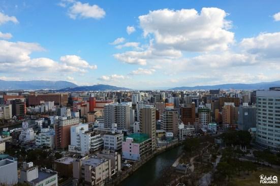 Vue depuis l'ACROS building, Fukuoka