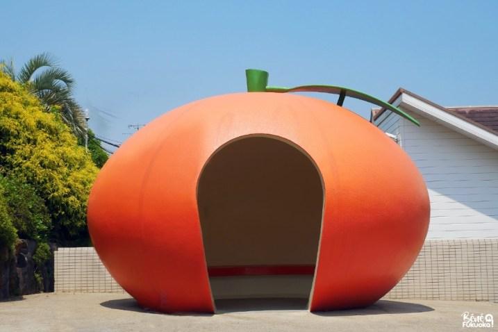 Abribus orange, Isahaya, Nagasaki