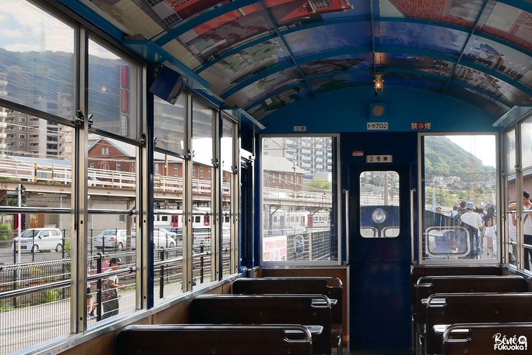 Le train touristique Shiokaze-gô, Mojikô, ville de Kita-Kyûshû, Fukuoka