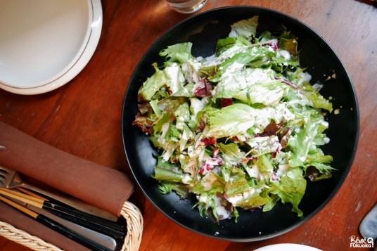 Salade césar, restaurant Shirogane Sabo, Fukuoka