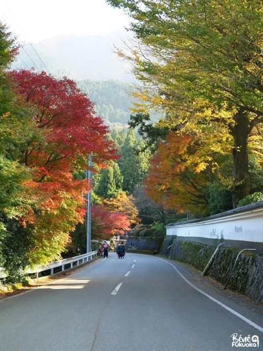 Route menant au temple Raizan Sennyoji Daihiô-in, ville d'Itoshima, Fukuoka