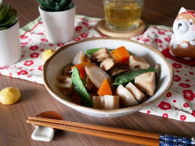 Game-ni (Chikuzen-ni), un plat japonais originaire de Fukuoka