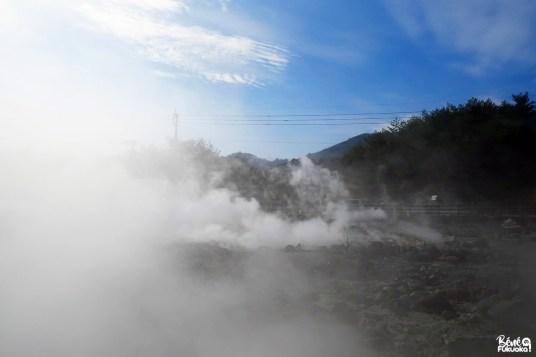 Fumerolles des Enfers d'Unzen, préfecture de Nagasaki