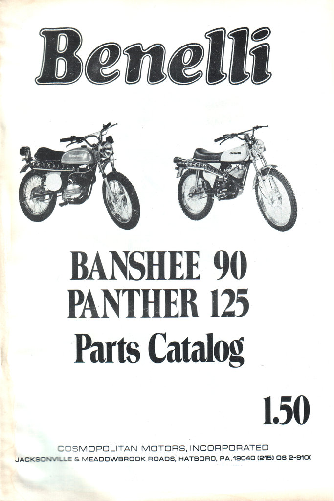Spare parts list Benelli Banshee 90 & Panther 125