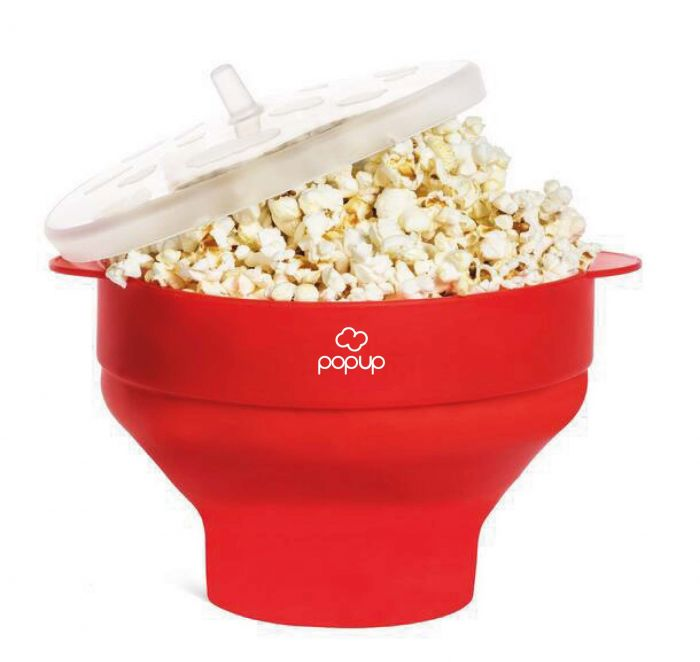 richard bergendi popup microwave popcorn popper with convenient handles silicone popcorn maker collapsible bowl with lid