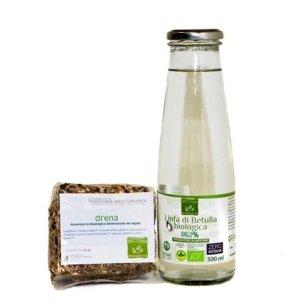 Kit Depurativo: 1 Bottiglia di Linfa di Betulla + 1 Tisana Drena