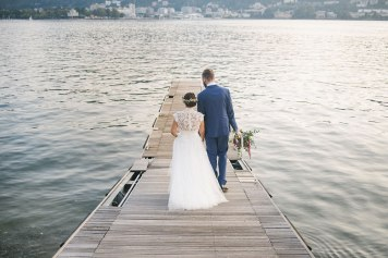 wedding boho a Villa Geno como lake