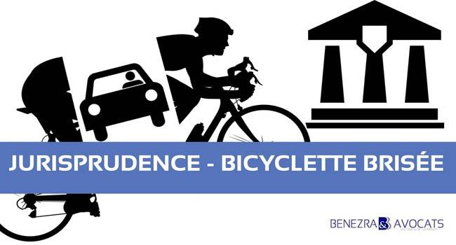 indemnisation vélo cassé, indemnisation vélo brisé, indemnisation bicyclette cassée, indemnisation vélo accidenté, préjudice vélo, préjudice matériel vélo