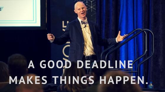 A good deadline makes things happen