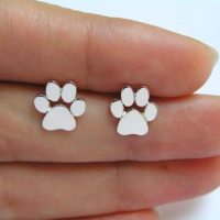 Cute Paw Print Stud Earrings | Bengal Cats