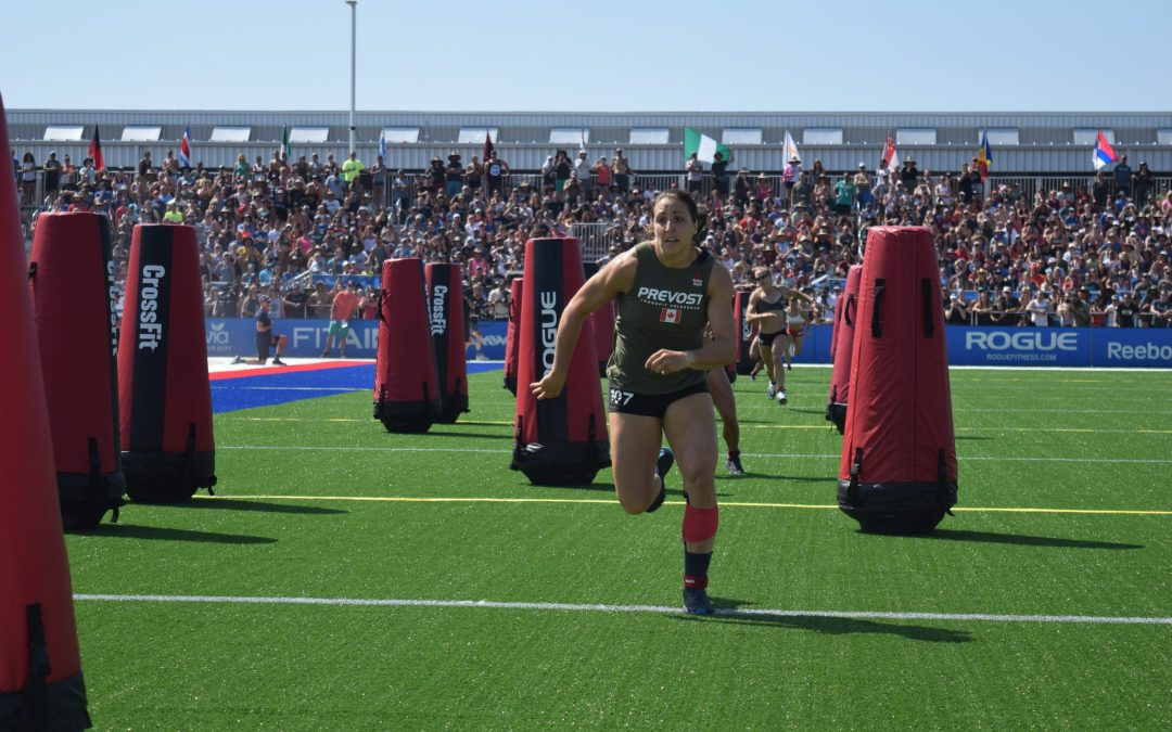 Carolyne Prevost competes in the Sprint Event at the 2019 CrossFit Games