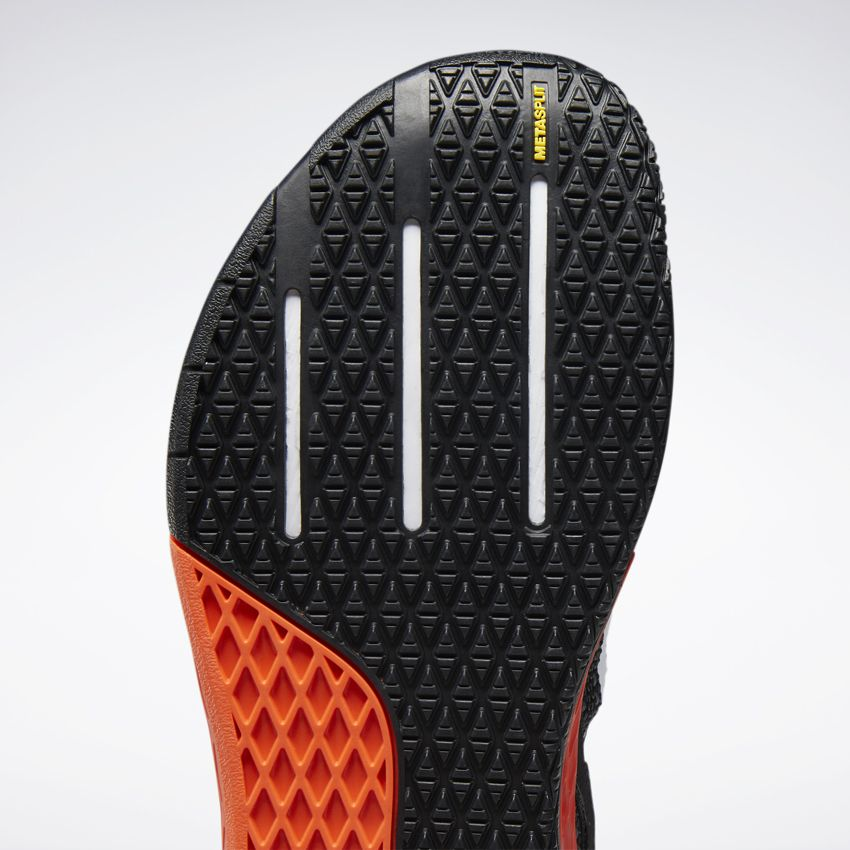 "Another cool feature of the Nano X is the new texture on the sole. Also note the ""Metasplit"" callout on the toe."