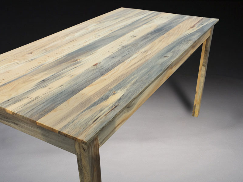 pine kitchen table breakfast bar rustic beetle kill benham design concepts epoxy filled bore holes on
