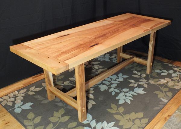 Good Big Leaf Maple Slab Dining Table