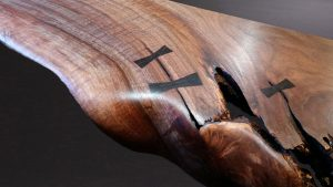 hand cut bowtie inlay