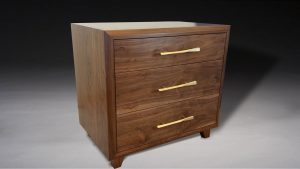 Mid Century Modern Nightstand with drawers