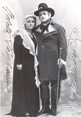 Image result for Beniamino Gigli e il soprano Anita Cerquetti