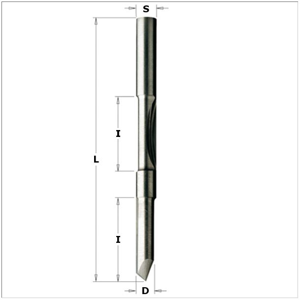 Double panel pilot router bit with guide 716.061