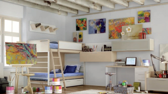 Interior design of teens room 21
