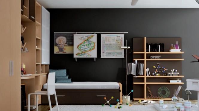 Interior design of teens room 25