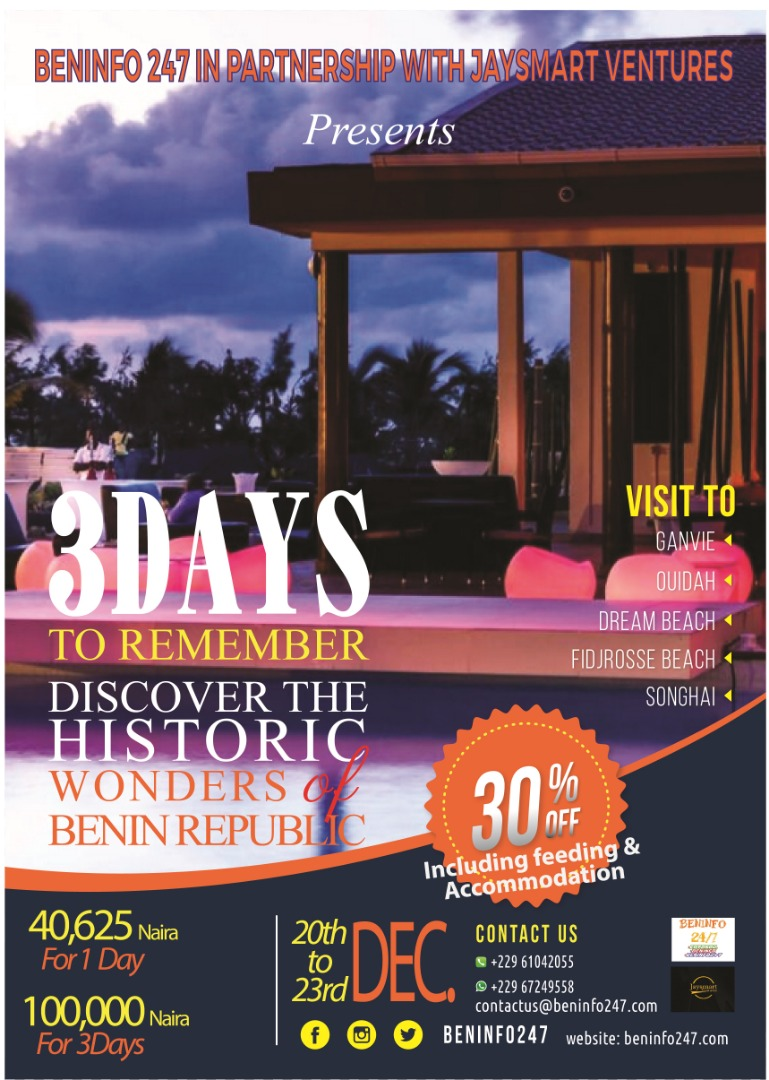 2019 Places of Attraction in the Republic of Benin