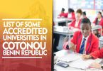 LIST OF SOME ACCREDITED UNIVERSITIES IN COTONOU BENIN REPUBLIC