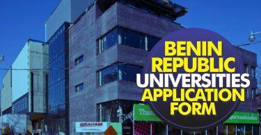 2020 Benin Republic Universities Admission Application Form