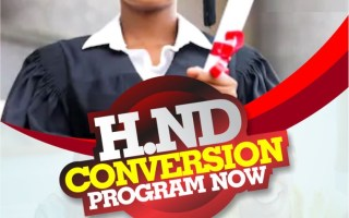 HND CONVERSION PROGRAM IN MANAGEMENT/ SCIENCE AND TECHNOLOGY COURSES