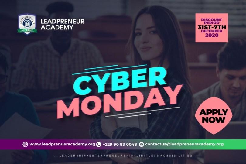 Leadpreneur Academy Cyber monday Application Form, leadpreneur Cyber monday scholarship