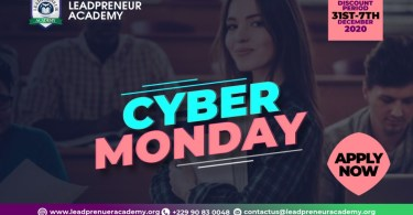 Leadpreneur Academy Cyber monday Application Form, leadpreneur Cyber monday scholarship