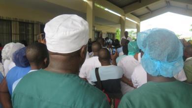 Photo of Patrice Talon rencontre les syndicalistes du secteur de la santé