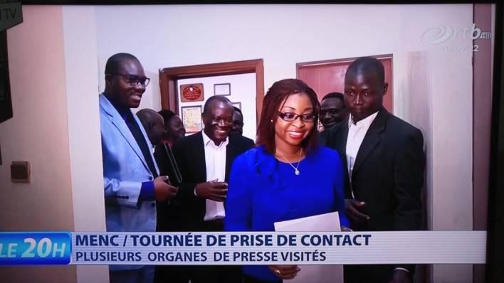 Aurélie Adam Soulé Zoumarou, ministre de l'Economie numérique et de la Communication, lors de sa tournée.   Photo : @AurelieASZ