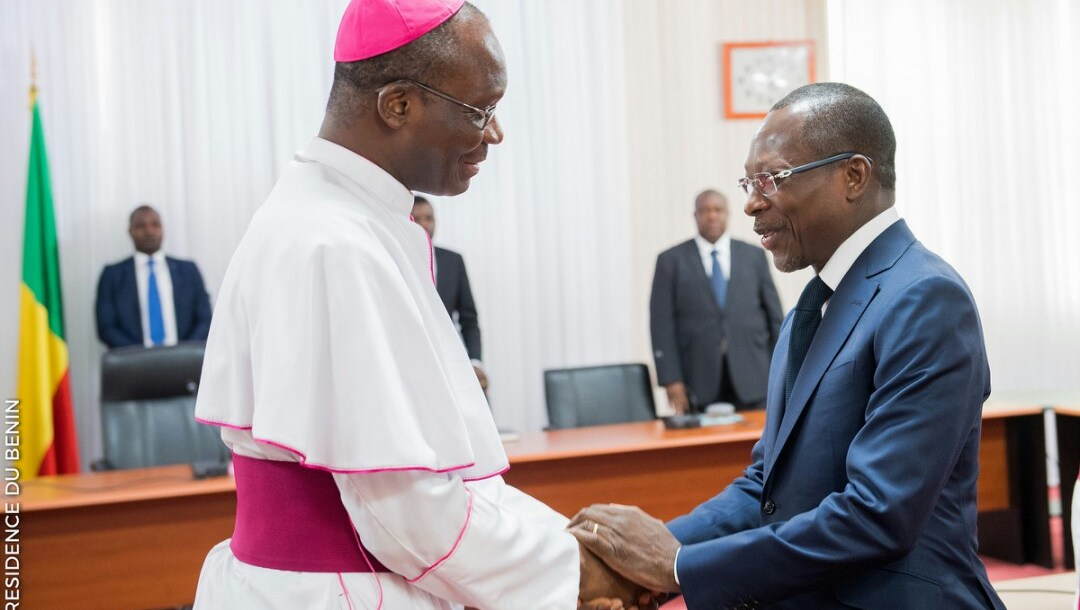 S.E.M Patrice Talon rencontre les membres de la Conference Episcopale / Photo : PRESIDENCE DU BENIN