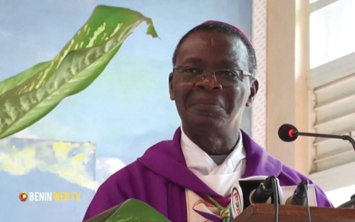 Monseigneur Victor Agbanou, président de la Conférence épiscopale du Bénin.