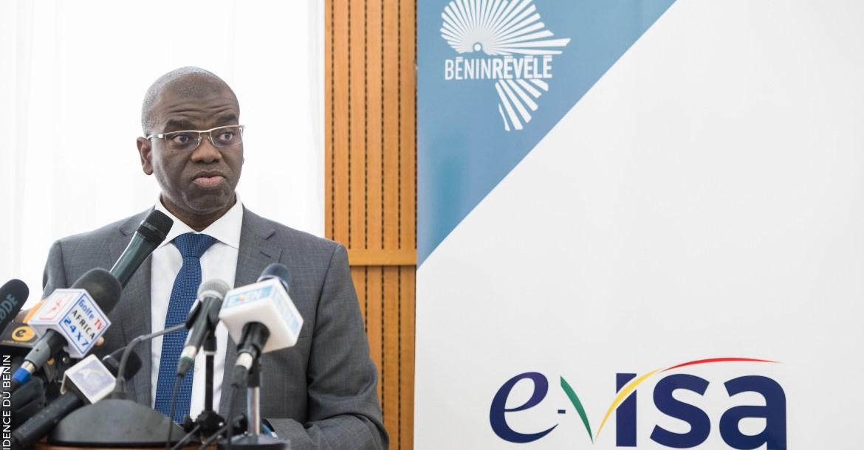 Maximilien Kpodjèdo, directeur général de l'Agence des services et systèmes d'informations (Assi), lors du lancement de l'e-visa | Photo : © Présidence de la République du Bénin