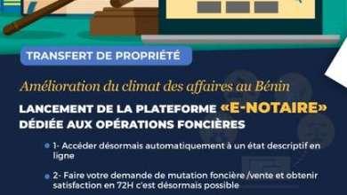 Photo of Dématérialisation du Foncier : L 'Agence Nationale du Domaine et du Foncier lance la plate-forme e-Notaire