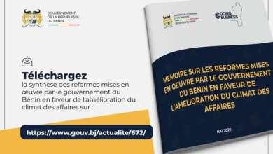 Photo of DOING BUSINESS – Découvrez la synthèse des réformes opérées par le gouvernement pour l'amélioration du climat des affaires au Bénin