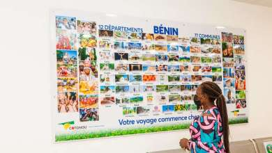 Photo of L'aéroport de Cotonou vous invite à la découverte du « mur de la Destination Bénin »