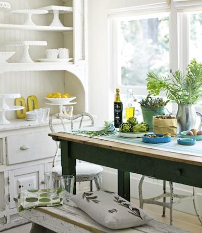peindre une table pour sa salle a manger c est l integrer a coup sur quel que soit le style