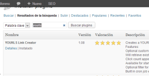 Instalar YOURLS WordPress