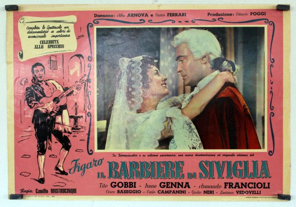 """figaro Il Barbiere Di Siviglia"" Movie Poster"