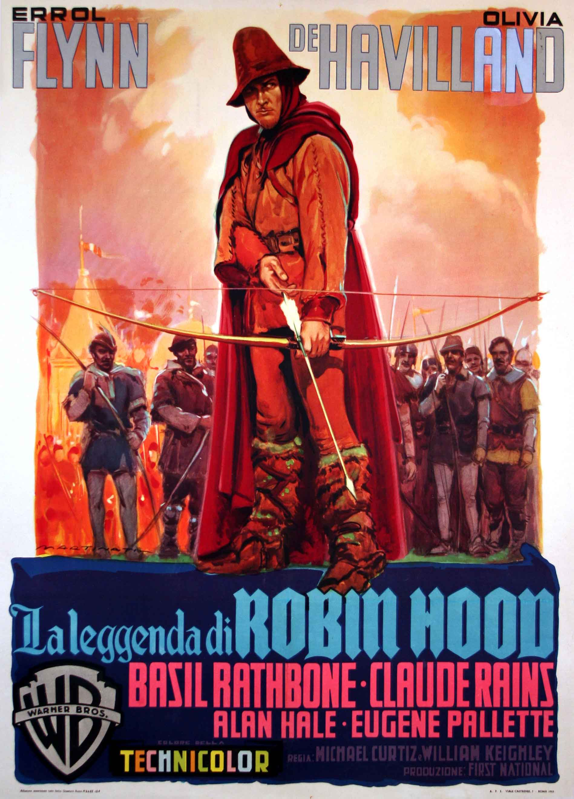 LAS AVENTURAS DE ROBIN HOOD  MOVIE POSTER  THE ADVENTURES OF ROBIN HOOD MOVIE POSTER