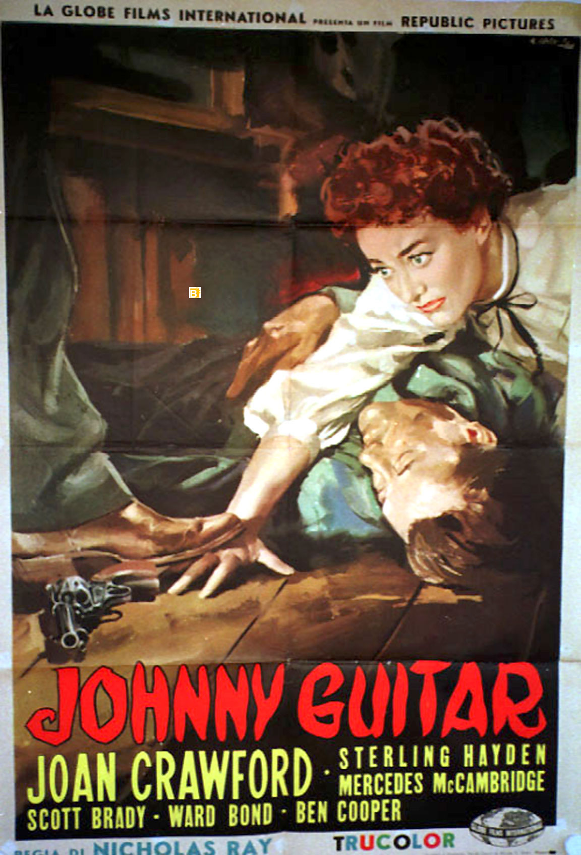 """Original belgian movie poster, used, folded , in very good condition. """"JOHNNY GUITAR"""" MOVIE POSTER - """"JOHNNY GUITAR"""" MOVIE POSTER"""