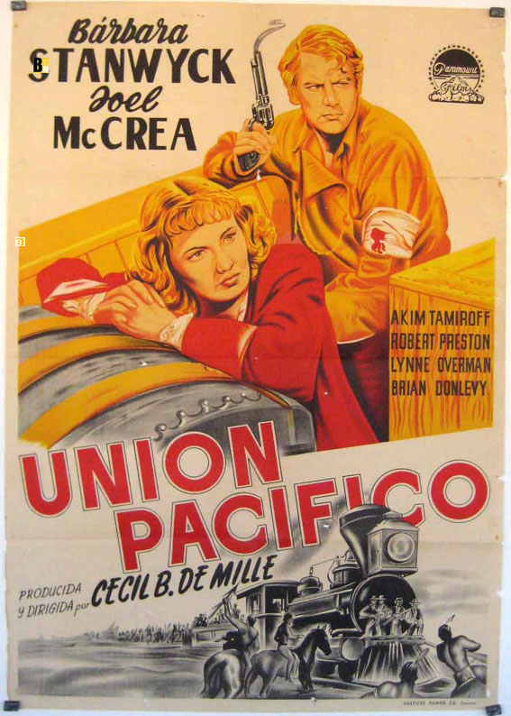 PACIFIC EXPRESS MOVIE POSTER UNION PACIFIC MOVIE POSTER