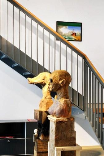 Arbeiten von Benjamin Kerwien und Sebastian Pless; Galerie Irrgang, Leipzig, 2012; Foto: Galerie Irrgang